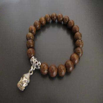 Bracelet bois méditation 21 perles N2