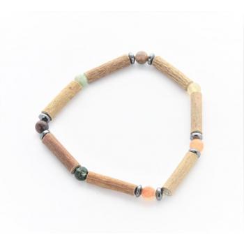 Bracelet de Noisetier | Agate Indienne | Hématite | Modèle 2 |15cm