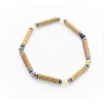 Bracelet de Noisetier | Agate Indienne | Hématite | Modèle 2 |16cm