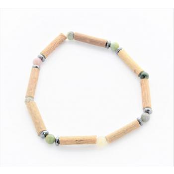 Bracelet de Noisetier | Agate Indienne | Hématite | Modèle 2 |17cm