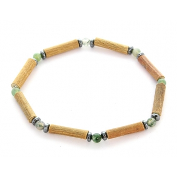 Bracelet de Noisetier | Agate Mousse | Hématite | Modèle 1 | 17cm