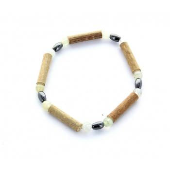 Bracelet de Noisetier | Aigue Marine | Hématite | Modèle 2| 14cm