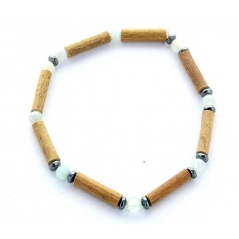 Bracelet de Noisetier | Aigue Marine | Hématite | Modèle 1 | 18cm