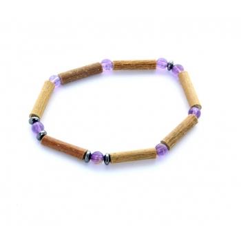 Bracelet de Noisetier | Améthyste | Hématite | Modèle 1 | 15cm
