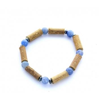 Bracelet de Noisetier | Aventurine bleue | Modèle 2 | 14CM