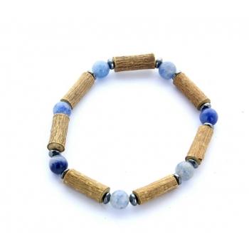 Bracelet de Noisetier | Aventurine bleue | Modèle 2 | 15cm
