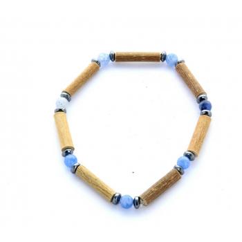 Bracelet de Noisetier | Aventurine bleue | Hématite | Modèle 1 | 16cm