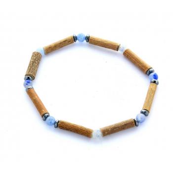 Bracelet de Noisetier | Aventurine bleue | Hématite | Modèle 1 | 17cm