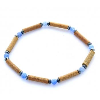 Bracelet de Noisetier | Aventurine bleue | Hématite | Modèle 1 | 18cm