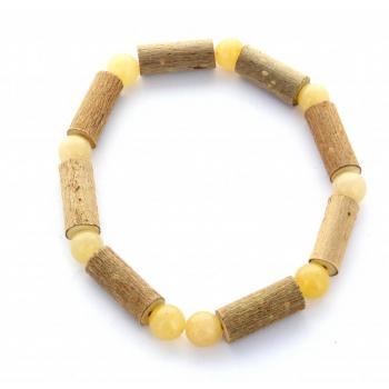 Bracelet de Noisetier | Aventurine jaune | Modèle 2 | 17cm
