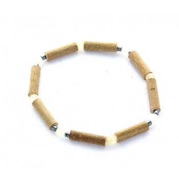Bracelet de Noisetier | Aventurine jaune | Hématite | Modèle 1 | 17cm