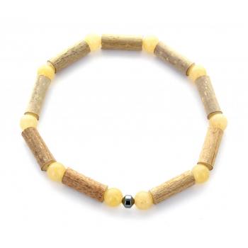 Bracelet Noisetier Aventurine jaune et Hématite