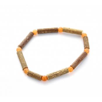 Bracelet de Noisetier | Aventurine orange | Modèle 1 | 14cm