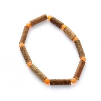 Bracelet de Noisetier | Aventurine orange | Modèle 1 | 16cm