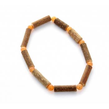 Bracelet de Noisetier | Aventurine orange | Modèle 1 | 15cm