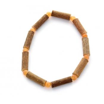 Bracelet de Noisetier | Aventurine orange | Modèle 1 | 17cm