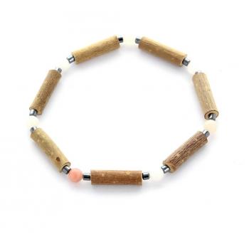 Bracelet de noisetier | Aventurine rose | hématite | modèle 1 | 16CM