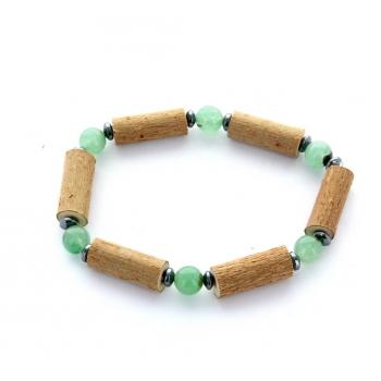 Bracelet de noisetier | Aventurine verte | hématite | modèle 1 | 14cm