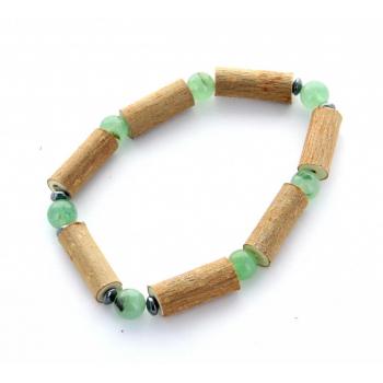 Bracelet de noisetier | Aventurine verte | hématite | modèle 2 | 15cm