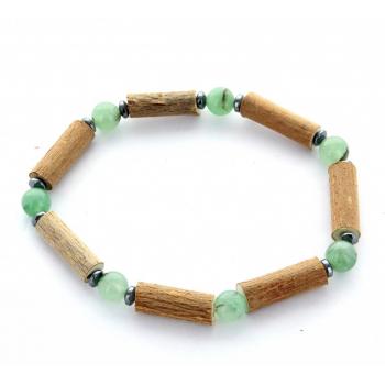 Bracelet de noisetier | Aventurine verte | hématite | modèle 2 | 17cm