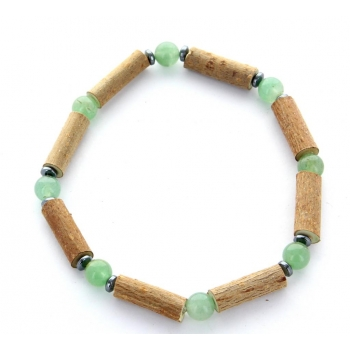 Bracelet de noisetier | Aventurine verte | hématite | modèle 1 | 19cm