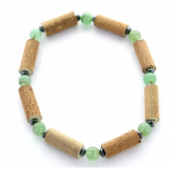 Bracelet de noisetier | Aventurine verte | hématite | modèle 1 | 20cm