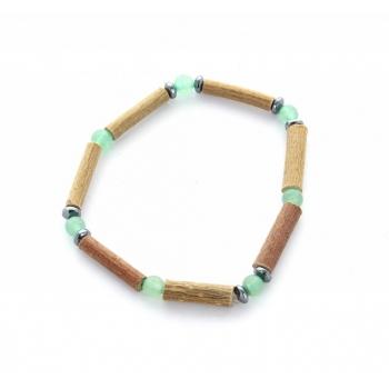 Bracelet de noisetier | Aventurine verte | hématite | modèle 2