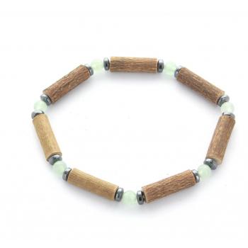 Bracelet de noisetier | Aventurine verte | hématite | modèle 1 | 16cm