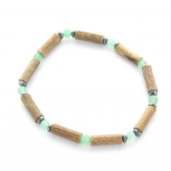 Bracelet de noisetier | Aventurine verte | hématite | modèle 1 | 18cm
