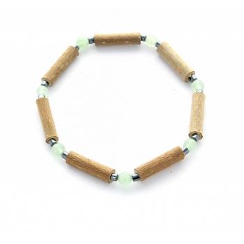 Bracelet de noisetier | Aventurine verte | hématite | modèle 2 | 16cm