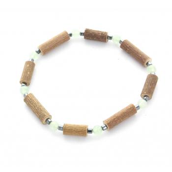 Bracelet de noisetier | Aventurine verte | hématite | modèle 3 | 17cm