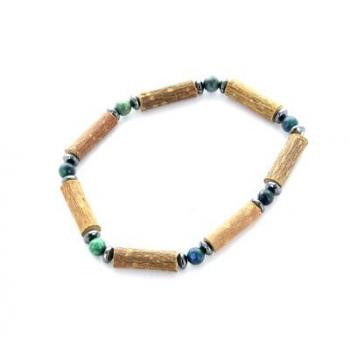 Bracelet de Noisetier | Chrysocolle | Hématite | Modèle 3 | 14cm