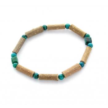 Bracelet de Noisetier | Chrysocolle | Modèle 1 | 15cm