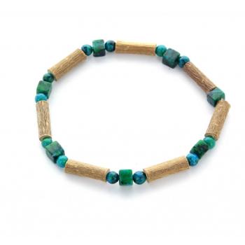 Bracelet de Noisetier | Chrysocolle | Modèle 1 | 17cm