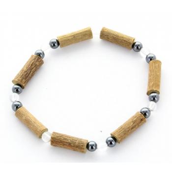 Bracelet de Noisetier | Cristal de Roche | Hématite | Modèle 2 | 15cm