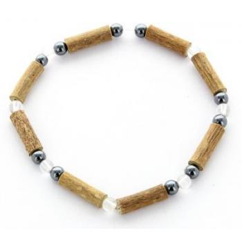 Bracelet de Noisetier | Cristal de Roche | Hématite | Modèle 2 | 17cm