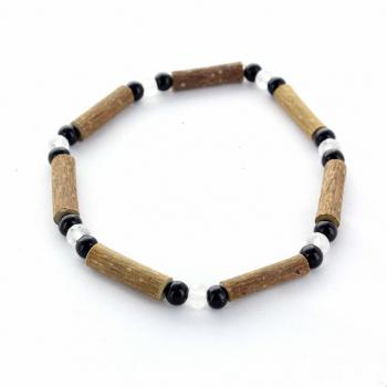 Bracelet noisetier et cristal de roche