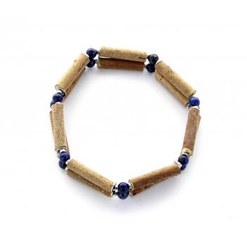bracelet de Noisetier et Lapis Lazuli