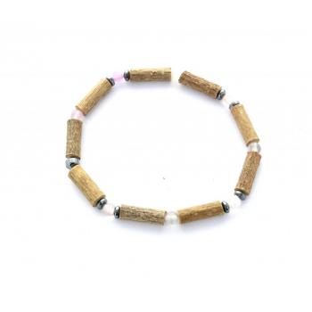 Bracelet de Noisetier | Fluorite | Hématite | Modèle 1 | 17cm