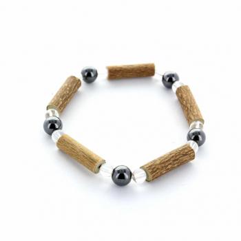 Bracelet noisetier et Hématite