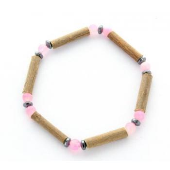 bracelet de noisetier et jade