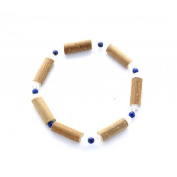 Bracelet Noisetier Lapis Lazuli-Cristal de Roche