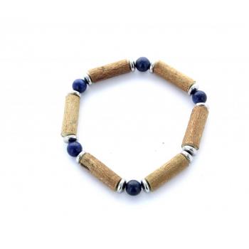 Bracelet Noisetier Lapis Lazuli et Hématite