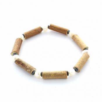 Bracelet noisetier 16cm et perle d'eau douce