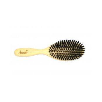 Brosse à cheveux plate, en bois de hêtre et poils de sanglier