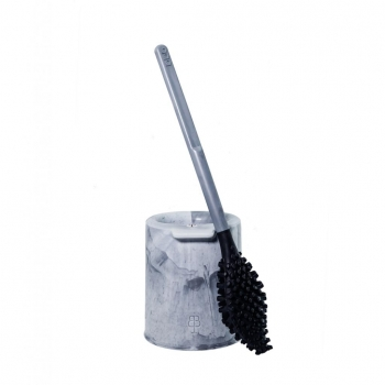 'bbb La Brosse' brosse WC avec support - Made in France - Gris étoile
