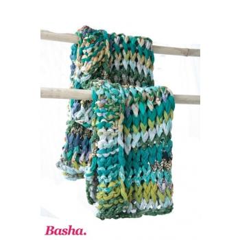 plaid sari recyclé turquoise