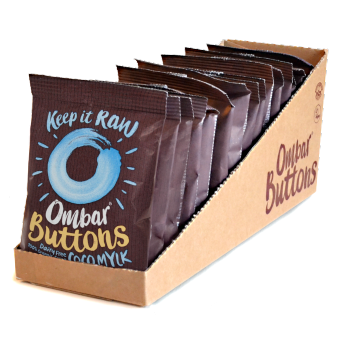 Lot de 13+2 Buttons - Chocolat Cru Crème de Coco 25g Bio - Ombar
