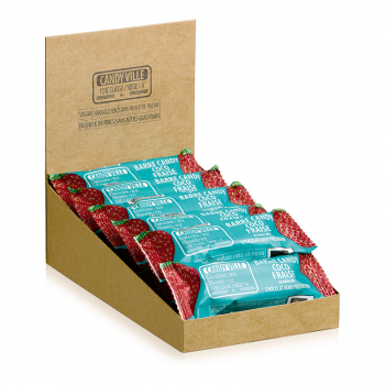 Lot de 15+3 Barres Candy Coco Fraise 50g Bio - Candy Ville