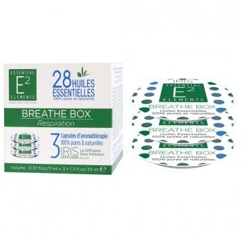 Breathe Box Trio de Capsules aux 28 Huiles Essentielles naturelles pour un Air PUR et Sain